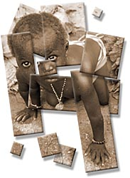 africa, babies, montage, tiles, vertical, photograph
