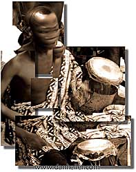 africa, drumbeat, montage, vertical, photograph