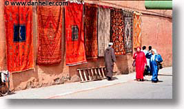 africa, horizontal, marrakech, morocco, rugs, photograph