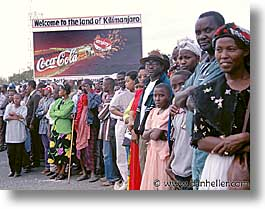 africa, arusha, coca cola, crowds, horizontal, signs, tanzania, photograph