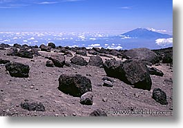 africa, horizontal, kilimanjaro, moon, mountains, tanzania, photograph