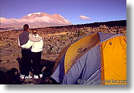 africa, horizontal, kilimanjaro, mountains, tanzania, tents, views, photograph