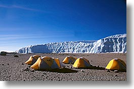 africa, horizontal, kilimanjaro, mountains, tanzania, tents, photograph