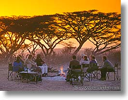 africa, animals, fire, horizontal, sunsets, tanzania, tarangire, wild, photograph