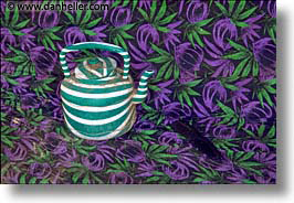 africa, green, horizontal, leaves, teapots, photograph