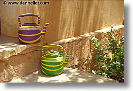 africa, green, horizontal, purple, teapots, photograph