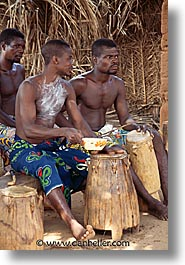 africa, drumming, togo, tribes, vertical, west africa, photograph