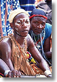 africa, men, painted, togo, tribes, vertical, west africa, photograph