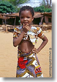 africa, girls, thoughtful, togo, tribes, vertical, west africa, photograph