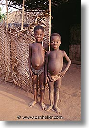 africa, boys, togo, tribes, two, vertical, west africa, photograph