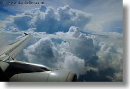 aerial clouds, airplane, asia, bhutan, clouds, horizontal, wings, photograph