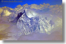 aerial clouds, asia, bhutan, horizontal, mt everest, photograph