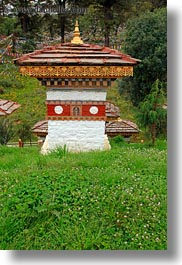 asia, asian, bhutan, buddhist, dochula pass, mini, religious, stupas, style, vertical, photograph