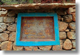 asia, asian, bhutan, chortens, horizontal, khamsum ulley chorten, language, signs, photograph