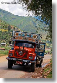 asia, bhutan, goods, luck, trucks, vertical, photograph