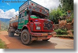 asia, bhutan, goods, horizontal, luck, trucks, photograph