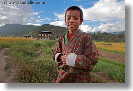 asia, asian, bhutan, boys, childrens, clothes, costumes, emotions, horizontal, lobeysa, people, smiles, style, photograph