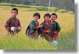 asia, asian, bhutan, boys, childrens, clothes, costumes, emotions, girls, horizontal, lobeysa, people, smiles, style, photograph