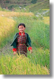 asia, asian, bhutan, childrens, clothes, costumes, emotions, girls, lobeysa, people, smiles, style, vertical, photograph