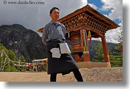 asia, asian, bhutan, bhutanese, gho, horizontal, men, people, style, traditional, photograph