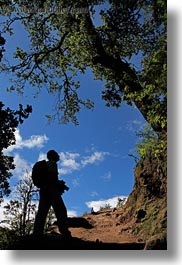 asia, bhutan, cameras, hikers, men, people, silhouettes, vertical, photograph
