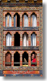 asia, asian, bhutan, men, people, style, vertical, windows, photograph