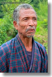 asia, asian, beards, bhutan, clothes, hair, men, mustache, old, people, robes, senior citizen, style, vertical, photograph