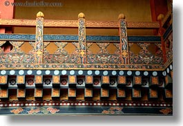 asia, asian, balconies, bhutan, buddhist, fences, horizontal, people, punakha dzong, religious, temples, photograph