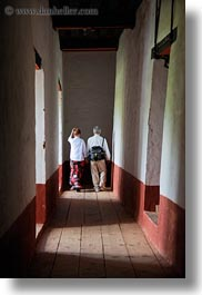 asia, bhutan, couples, halls, punakha dzong, vertical, walking, photograph