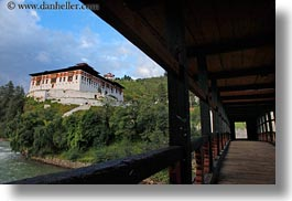 asia, asian, bhutan, buddhist, clouds, dzong, horizontal, nature, religious, rinpung, rinpung dzong, rivers, sky, style, water, photograph