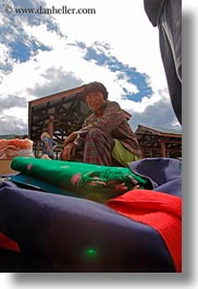 asia, asian, bhutan, people, scarves, street market, vendors, vertical, photograph