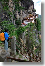 asia, bhutan, buddhist, hashmat, religious, taktsang, temples, vertical, viewing, photograph
