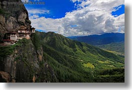 asia, bhutan, big, buddhist, cliffs, horizontal, religious, taktsang, temples, views, photograph