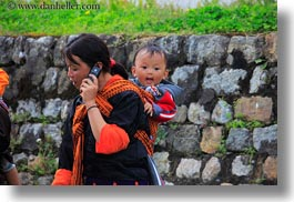 asia, asian, babies, bhutan, buddhist, cells, horizontal, mothers, people, phones, religious, tashichho dzong, photograph