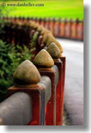 asia, asian, bhutan, buddhist, fences, posts, religious, style, tashichho dzong, vertical, photograph