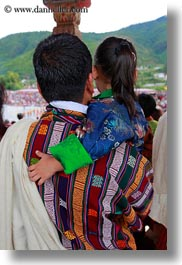 asia, asian, bhutan, buddhist, daughter, men, people, religious, style, tashichho dzong, vertical, photograph
