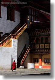asia, asian, bhutan, buddhist, clothes, monks, people, religious, robes, style, tashichho dzong, temples, vertical, photograph