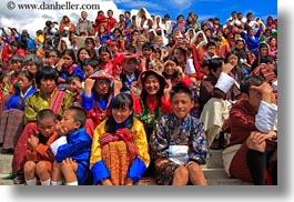asia, asian, bhutan, buddhist, crowds, horizontal, people, religious, stadium, tashichho dzong, photograph