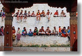asia, asian, bhutan, buddhist, crowds, horizontal, people, religious, stadium, style, tashichho dzong, photograph