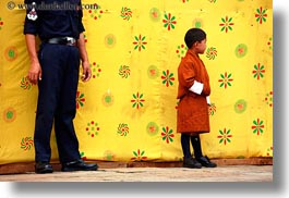asia, asian, bhutan, boys, horizontal, people, policeman, wangduephodrang dzong, photograph