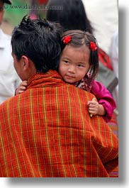 asia, asian, bhutan, daughter, fathers, girls, people, vertical, wangduephodrang dzong, photograph