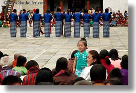 asia, asian, bhutan, crowds, girls, horizontal, people, standing, wangduephodrang dzong, photograph