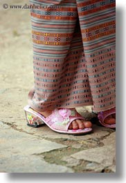 asia, asian, bhutan, girls, people, pink, shoes, vertical, wangduephodrang dzong, photograph