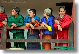 asia, asian, bhutan, fences, girls, horizontal, people, wangduephodrang dzong, womens, photograph