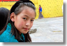 asia, asian, bhutan, girls, horizontal, people, wangduephodrang dzong, young, photograph
