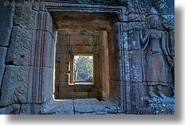 angkor thom, asia, bayon, cambodia, doors, horizontal, views, photograph