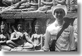 angkor thom, asia, cambodia, guides, horizontal, leper king terrace, statues, tours, photograph