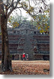 angkor thom, asia, cambodia, palace gate, phimeanakas, vertical, photograph
