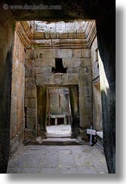 angkor thom, asia, cambodia, doorways, palace gate, slow exposure, stones, vertical, walls, photograph