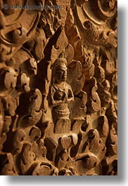 angkor wat, asia, bas reliefs, cambodia, figures, praying, vertical, photograph